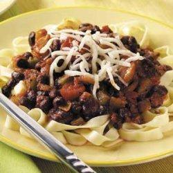 Fettuccine with Black Bean Sauce recipe