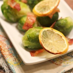 Roasted Brussels Sprouts with Lemon and Bacon