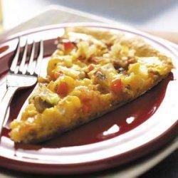 Sausage and Egg Pizza