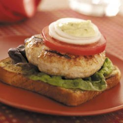 Open-Faced Turkey Burgers