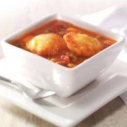 Bean Soup with Cheddar Cornmeal Dumplings