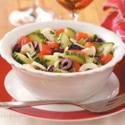 Tomato-Cucumber Mozzarella Salad