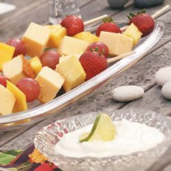 Fruit Kabobs with Margarita Dip
