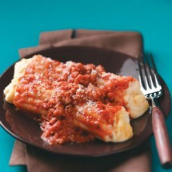 Three-Cheese Turkey Manicotti recipe