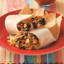 Corn, Rice & Bean Burritos