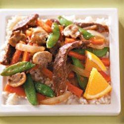 Orange Beef Stir-Fry recipe