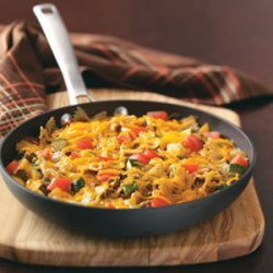 Vegetable Beef Bow Tie Skillet
