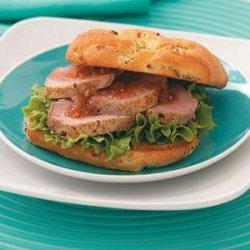 Roast Pork Sandwiches with Peach Chutney