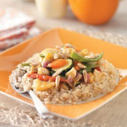 Mango Chicken with Plum Sauce