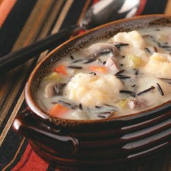 Wild Rice and Cheddar Dumpling Soup