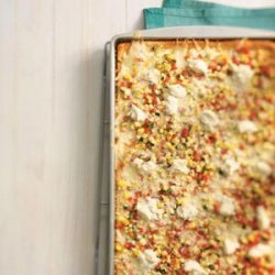 Three-Cheese Veggie Pizza