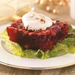 Spiced Cranberry-Chutney Gelatin Salad