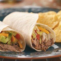 Green Chili Beef Burritos