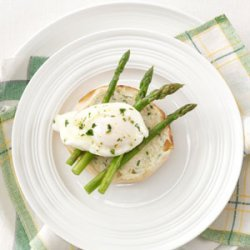 Poached Eggs with Asparagus and Lemon Butter