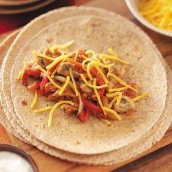 Mushroom Bean Burritos recipe