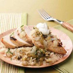 Grilled Tomatillo Chicken