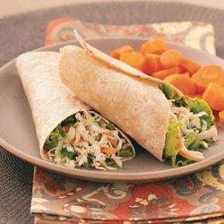 Asian Chicken Salad Wraps