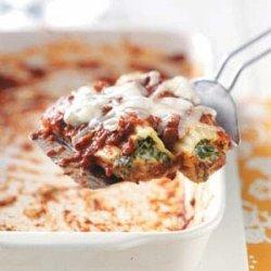 Cheese Spinach Manicotti