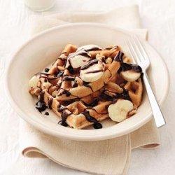 Chocolate Chip-Banana Belgian Waffles