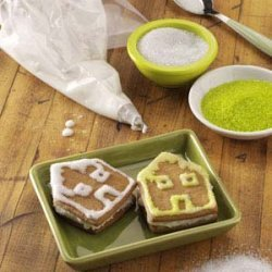 Gingerbread House Sandwich Cookies