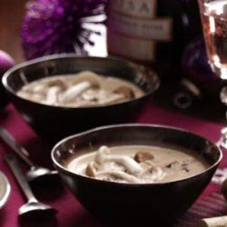 Brie and Wild Mushroom Soup recipe