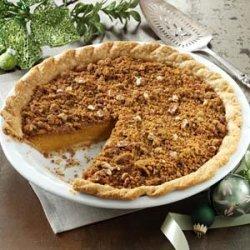 Ginger Pumpkin Pie with Streusel