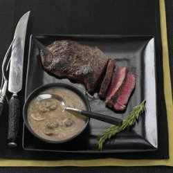 Sirloin Steak with Rich Mushroom Gravy