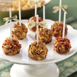 Brandy & Date Cheese Ball Pops