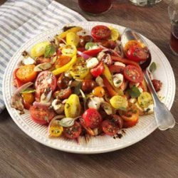 Roasted Pepper Salad with Balsamic Vinaigrette