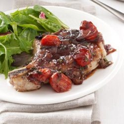 Pork with Strawberry-Port Sauce