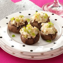 Shrimp and Goat Cheese Stuffed Mushrooms recipe