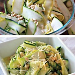 Shaved Zucchini Salad with Parmesan Pine Nuts