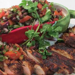 Adobo-Rubbed Pork Tenderloin with Black Bean Pico de Gallo