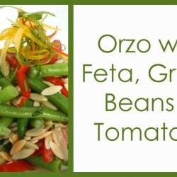Orzo with Feta, Green Beans, and Tomatoes