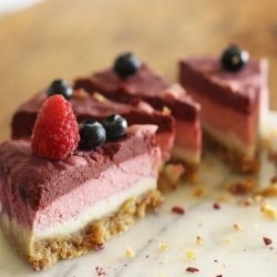Raspberry and Blueberry Vanilla Cheesecake