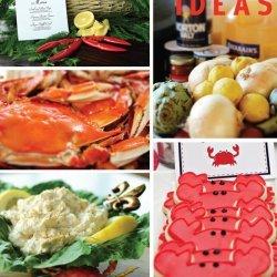 Spicy Boiled Crabs, Shrimp, Potatoes, Corn, and Garlic