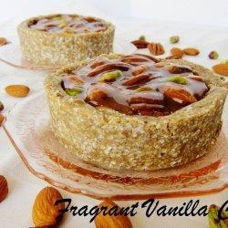 Caramelized Pistachio, Walnut, and Almond Tart
