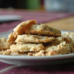 Parmesan, Rosemary, and Walnut Shortbread