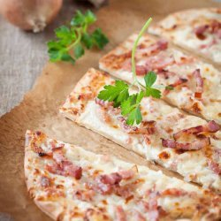 Onion, Cheese, and Bacon Tart