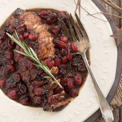 Pork Tenderloin with Balsamic-Cranberry Sauce