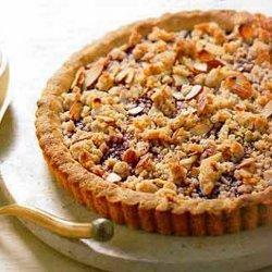 Raspberry Jam Tart with Almond Crumble
