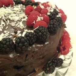 Deep Chocolate Raspberry Cake recipe