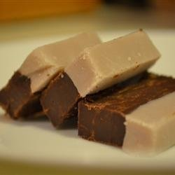 Raspberry Truffle Fudge