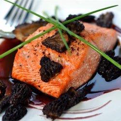 Salmon in Saffron Mussel Sauce