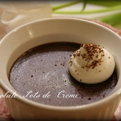 Chocolate Pots de Crème with White Chocolate Whipped Cream