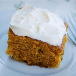 Pumpkin Cake Bars With Cream Cheese Frosting!
