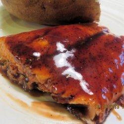 Seared Salmon With Balsamic Glaze