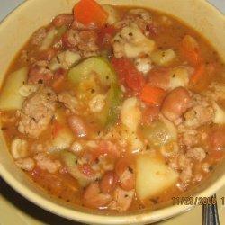 Pasta E Fagioli (Italian soup) with Italian Sausage