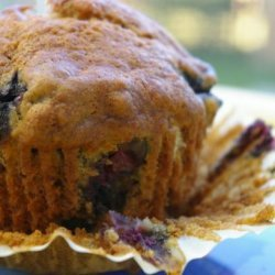 Easy Moist Banana Blueberry Muffins
