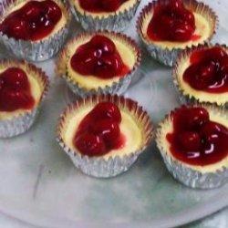 Individual Mini Cherry Cheesecakes